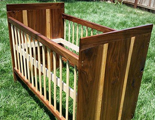 Modern Walnut Crib by Guice Woodworks