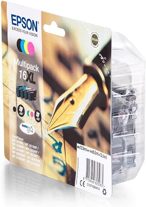 Original Epson C13t16364012 16xl Für Workforce Wf 2660 Dwf 4x Premium Drucker Patrone Schwarz Foto Cyan Magenta Gelb Bürobedarf Schreibwaren