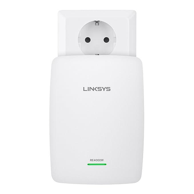 Linksys RE4000W-EJ - Extensor de red Wi-Fi de doble banda N600 (N600 Mbps, doble banda 2,4 + 5 GHz, Tecnología Cross-band, 2x puertos Fast Ethernet), ...