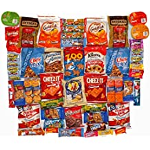 Super 50 count Snack Pack Variety Assortment Care Package Gift Box - Students, College, Military, Office or Just Happy Day!
