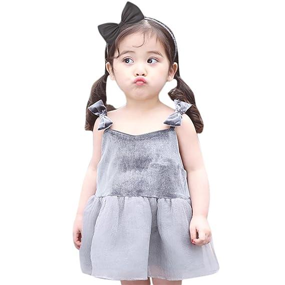 Btruely Herren Niña Princesa Vestidos - Elegante Cumpleaños Fiesta Disfraz para 1-4 Años (