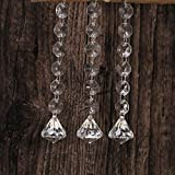 Ecosin 10 Pcs Wedding Acrylic Beads Drops Chandelier Hanging Curtain Interior Decor Water Drop Pearl (D)