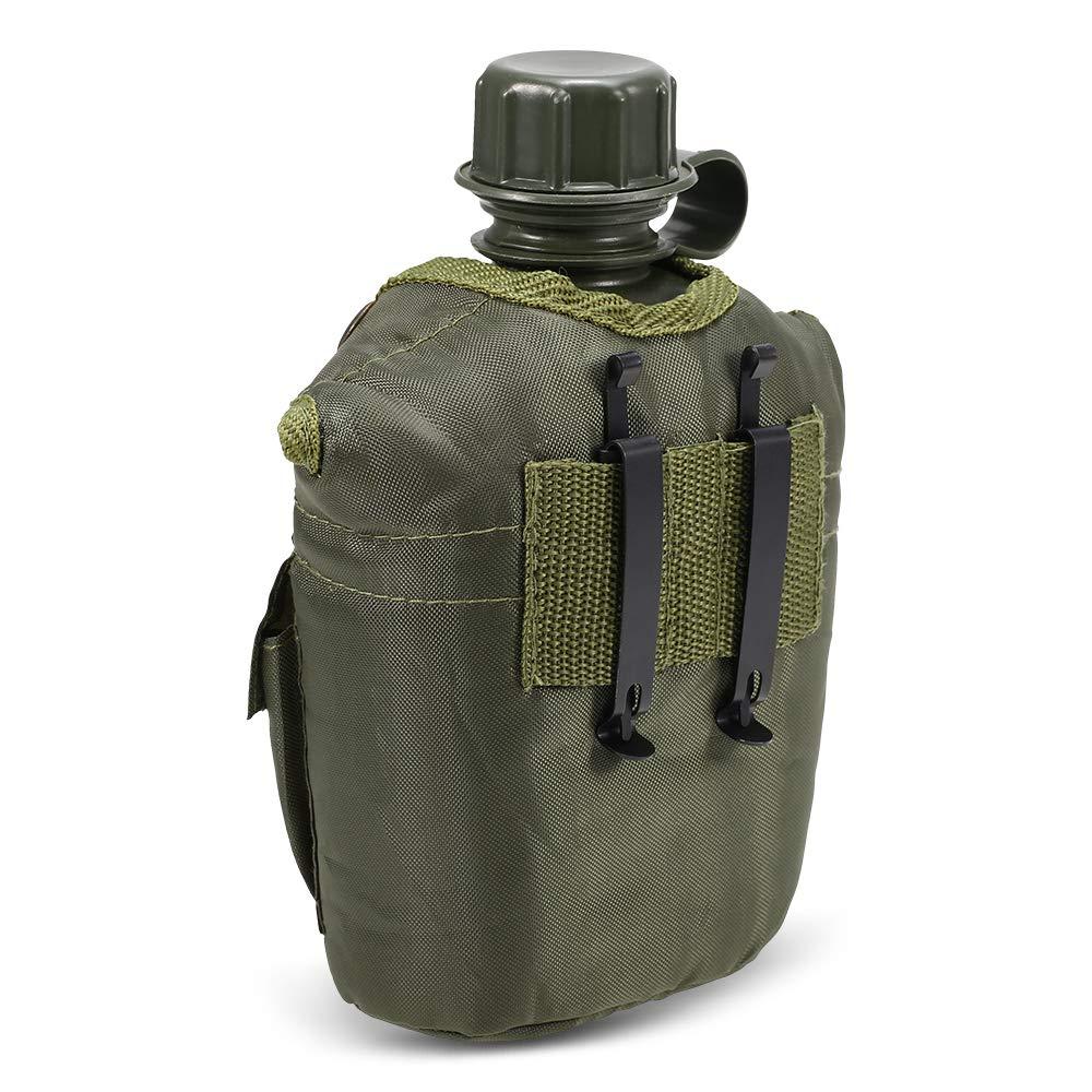 Amazon.com: Lixada1 - Botella de agua militar para acampada ...
