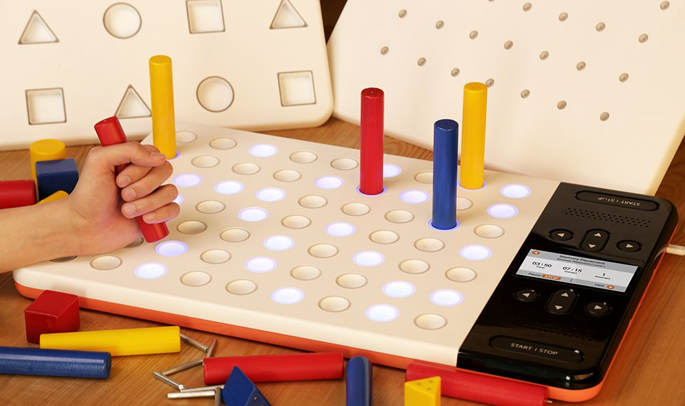 RAPAEL SMART PEGBOARD-Complete Set: Digital Program for Hand Rehabilitation, Dexterity & Fine Motor Coordination after Stroke, Brain Injury or Spinal Cord Injury (neurological/orthopedic hand issues)