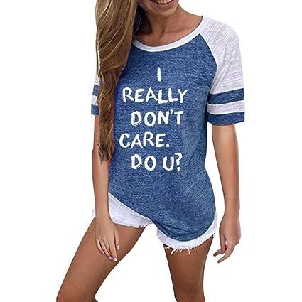 Mujer Blusa topsa camiseta T-shirt manga larga y corta,Sonnena Las mujeres camiseta
