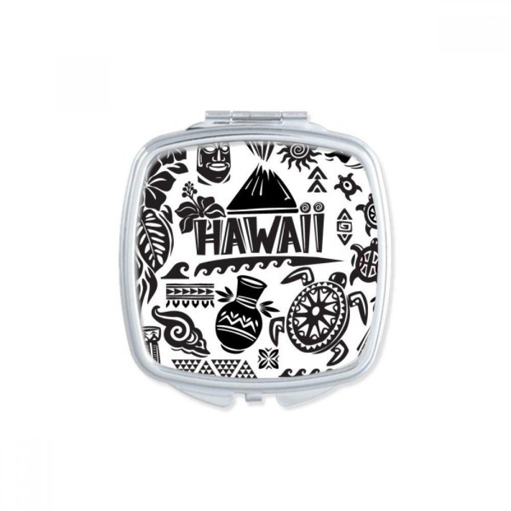 Hawaiian Islands Celebrate Silhouette America Square Compact Makeup Pocket Mirror Portable Cute Small Hand Mirrors Gift