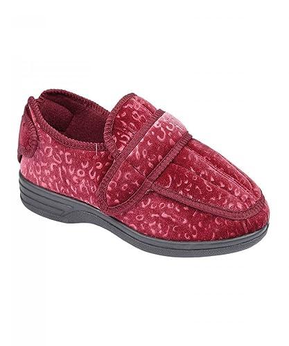 c9841bc449 Shoe Tree Ladies Wide Fit Diabetic Orthopedic Memory Foam Multi Fit  Washable Slippers Size UK 3