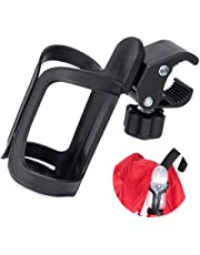Stroller Cup Holder Universal Bottle Drink Holders for Bicycle Bike Mountain Bike and Motorcycle, Black