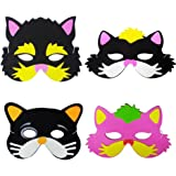 Blue Orchards Kitten Party Foam Masks (12), Kitten Party Supplies, Birthday Party Accessories