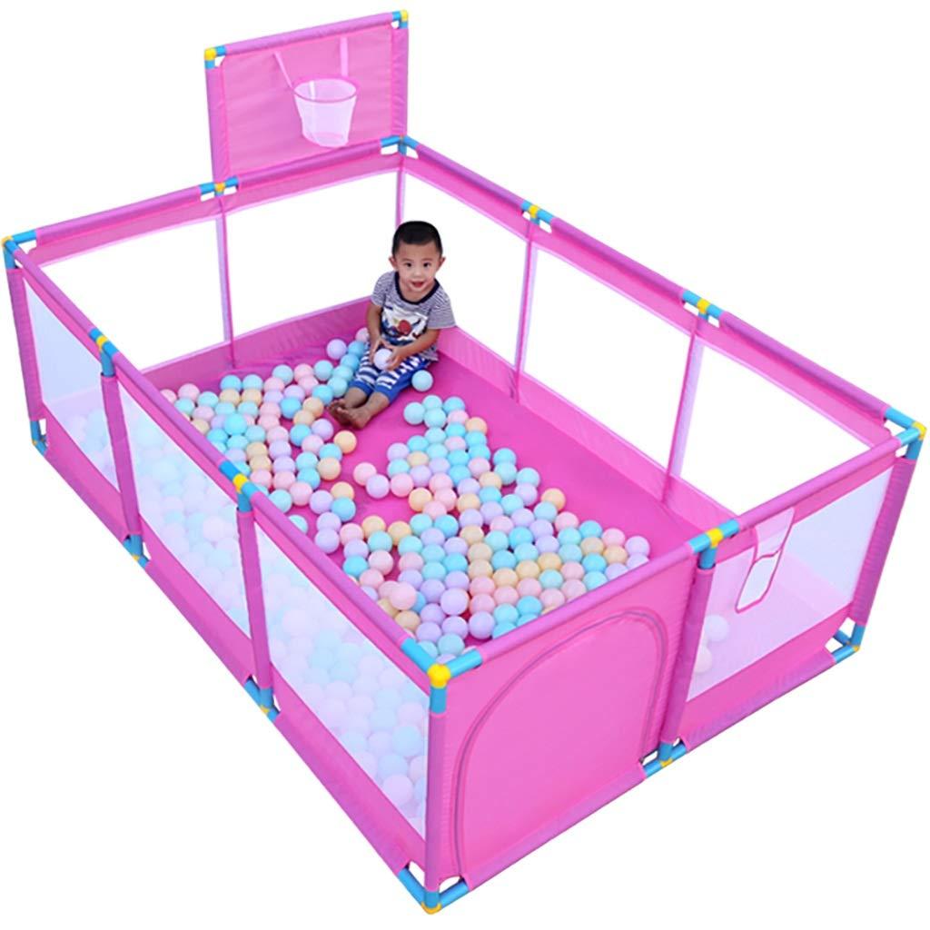 赤ちゃんの子供の遊びのフェンスクロール幼児フェンスのホームセキュリティフェンスピンク192 * 128 * 66センチメートル (色 : C)  C B07G3TRNDB