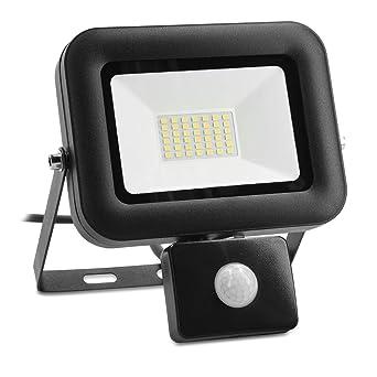 kwmobile Foco LED de exteriores de 30W - Proyector de luz con sensor de movimiento PIR