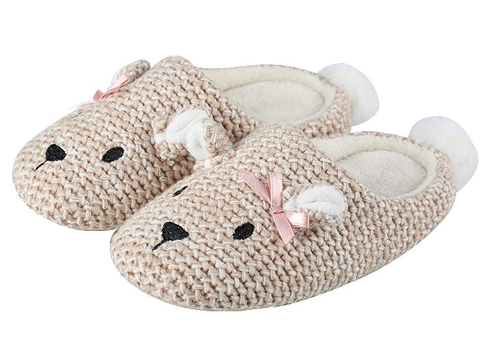 Cattior Kids Animal Warm Slippers Indoor Fluffy Slipper Shoes Toddler Little Kid
