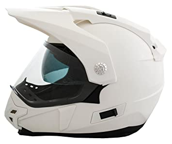 Casco Moto LEM - Trail - BLANCO BRILLO (S)