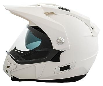 Casco Moto LEM - Trail - BLANCO BRILLO (S)