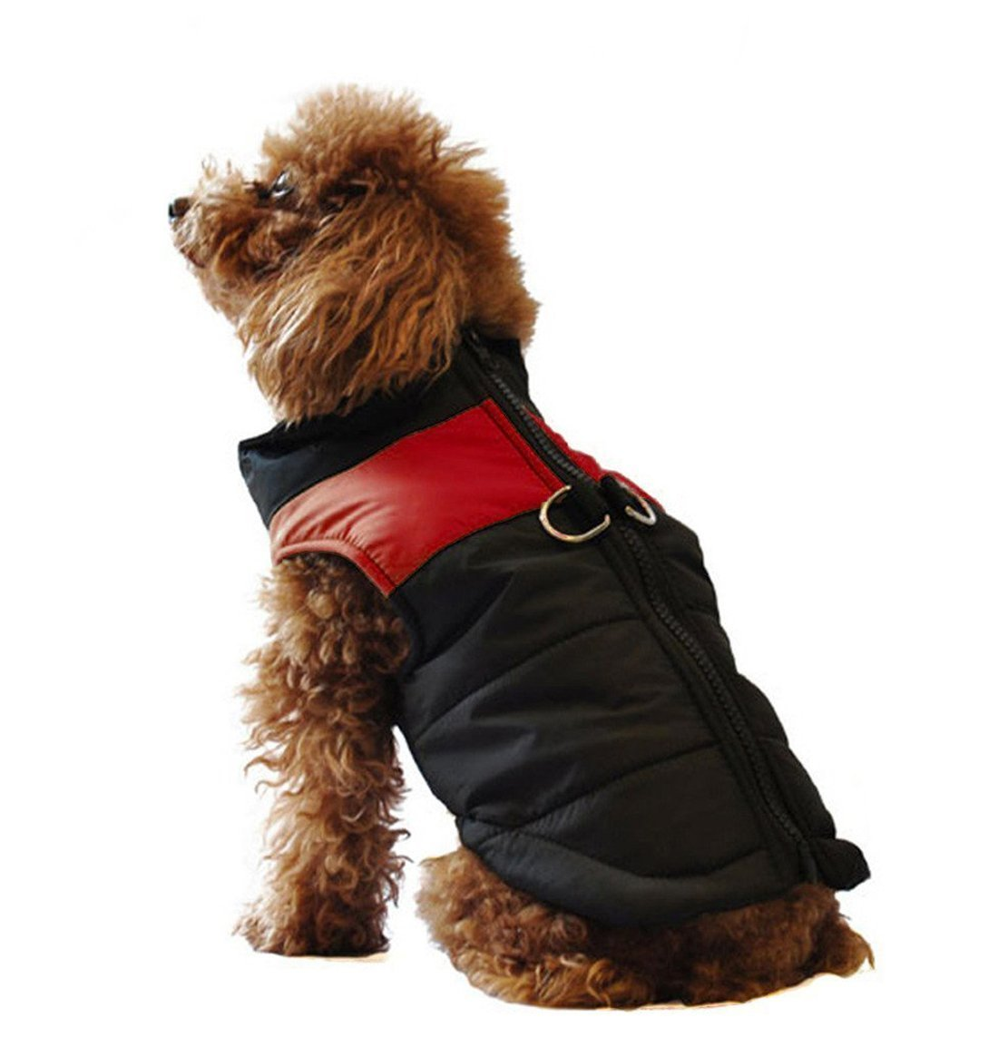 Aisuper matelassé chaud étanche Fermeture Éclair vestes manteaux d'hiver pour petite Medium Chiens de grande taille Pull-over pour animaux de compagnie Chiot Chat Vêtements de coton Bleu Rouge Rouge Vert Rose 5couleurs Taille S-5X L