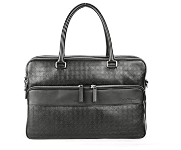 Image Unavailable. Image not available for. Color  Salvatore Ferragamo  Men s Gancio Embossed Business Bag ... 17147c56173ff