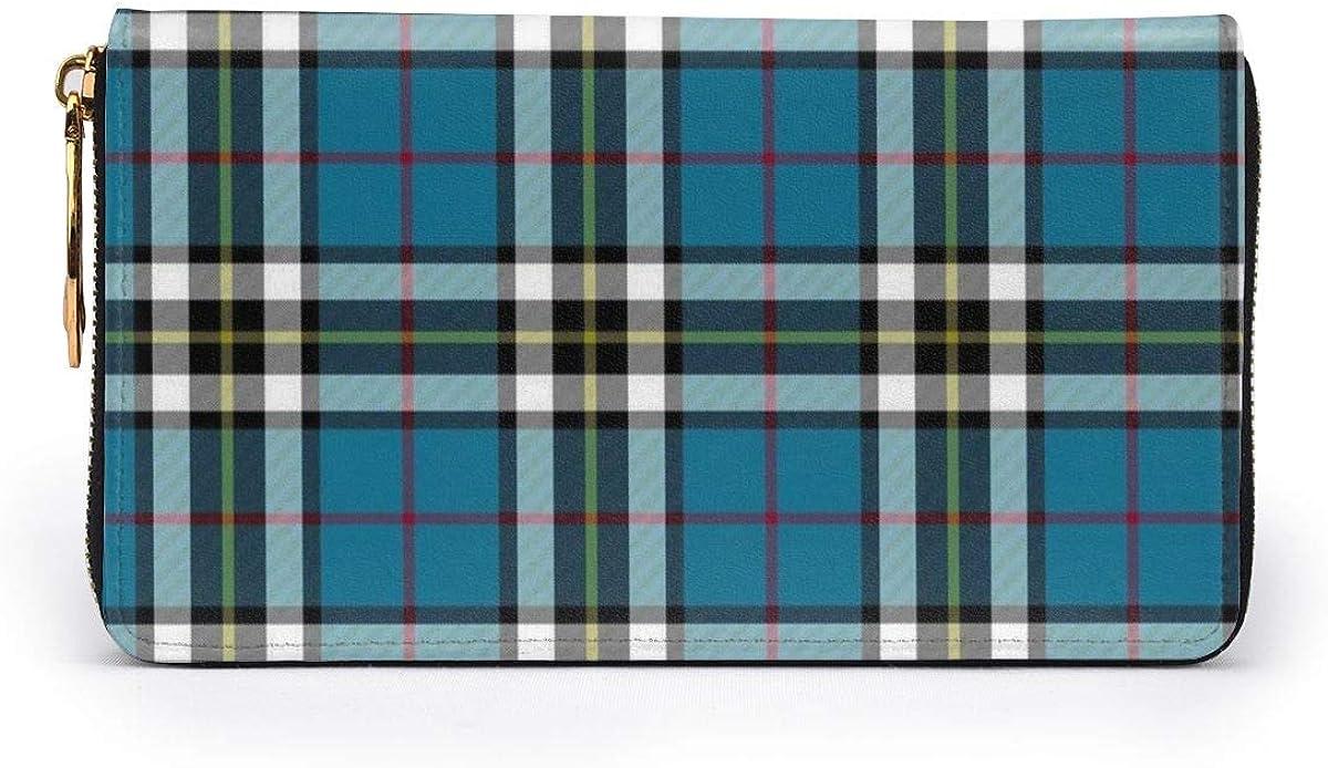Thompson Mactavish Tartan Wallets For Men Women Long Leather Checkbook Card Holder Purse Zipper Buckle Elegant Clutch Ladies Coin Purse