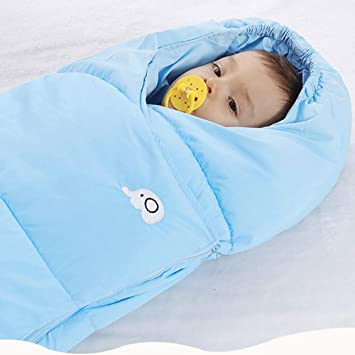 Yinuoday Unisex Baby Swaddle Blankets Newborn Infant Thick Warm Sleeping Bag Toddler Stroller Wraps Super Soft Receiving Blanket for 0-12 Month Baby