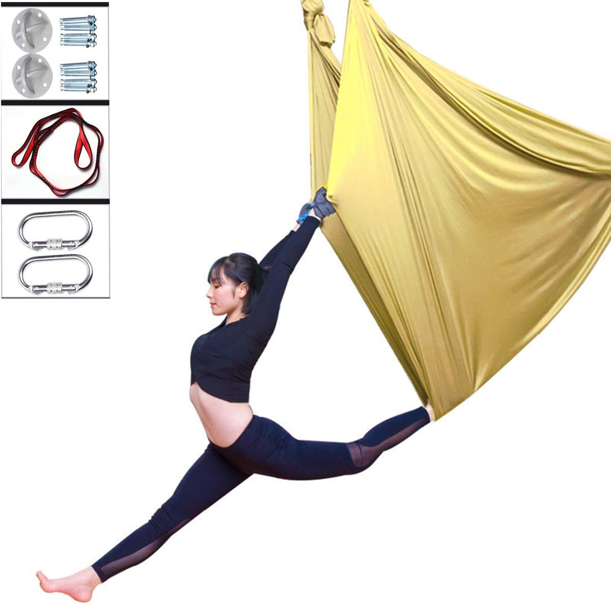 DSAEFG Juego de hamacas para Yoga aérea, Columpio elástico ...