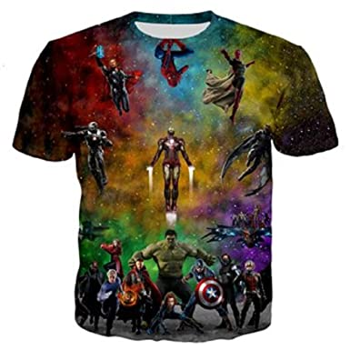fda5d2ec1f1f PAPWOO Justice League Shirt Transformer Marvel Guardians of Galaxy  Superhero Movie 3D T-Shirts for