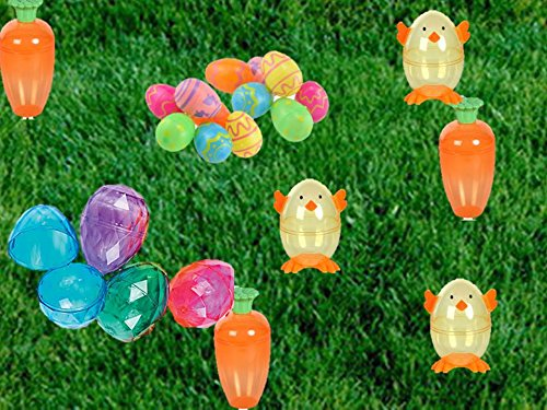 Easter Eggs Decorations, Bunny Eggs, Chicks Eggs, Colored Eggs, Striped Eggs, Polka Dot Eggs, Diamond Eggs, Jumbo (Jumbo White Bunny Kit)