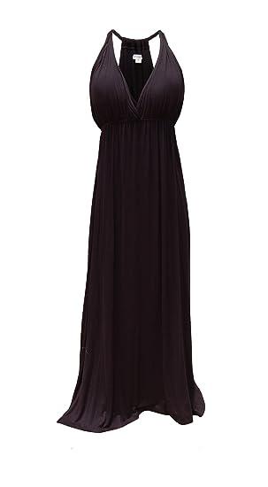 Deep V Neck Maxi Dress Black At Amazon Women S Clothing Store