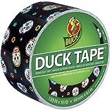 "Duck Brand 283931 Printed Duct Tape, Sugar My Skull, 1.88""x10 yd, Single Roll"