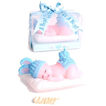 Amazon Com Aixiang 12 Pack Handmade Cute Sleeping Baby Boy Candle