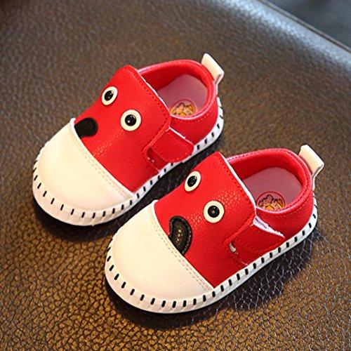 IGEMY Baby Fashion Blue Sneaker Kind Mädchen Jungen Cartoon Print warme Schuhe Rot