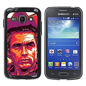 Ihec Tech Cowboy Violet Yellow Man Far West / Funda Case back Cover guard / for Samsung Galaxy Ace 3