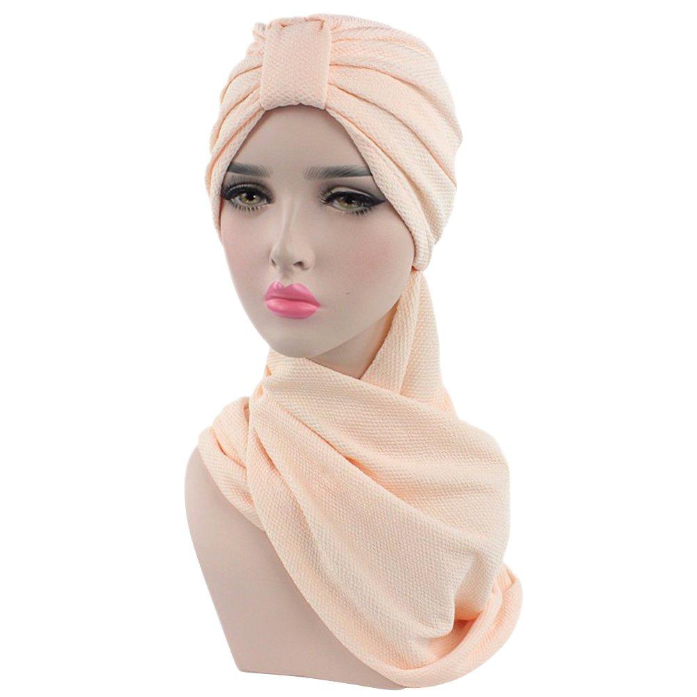 Amorar Musulmano Hijab Sciarpa Set Chemo Cap Head Neckwear Turban Hijab Head Scarf per Donna Ragazza
