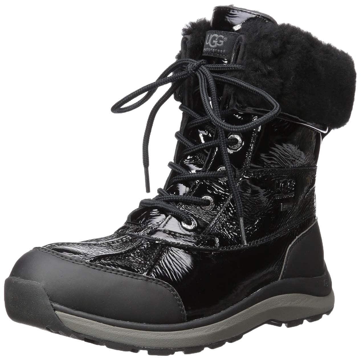 8ec10d1559d UGG Women's W Adirondack III Patent Snow Boot Black: Amazon.co.uk ...