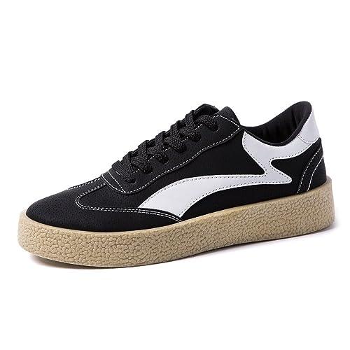 Zapatos Planos de los Hombres del Deporte Mocasines de Cuero Ocasionales de la PU Zapatos de Lona de la Suela Exterior Superior Baja Fuerte,Zapatos de ...