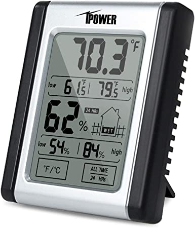 iPower Indoor Digital Thermometer Hygrometer Temperature Humidity Monitor Meter