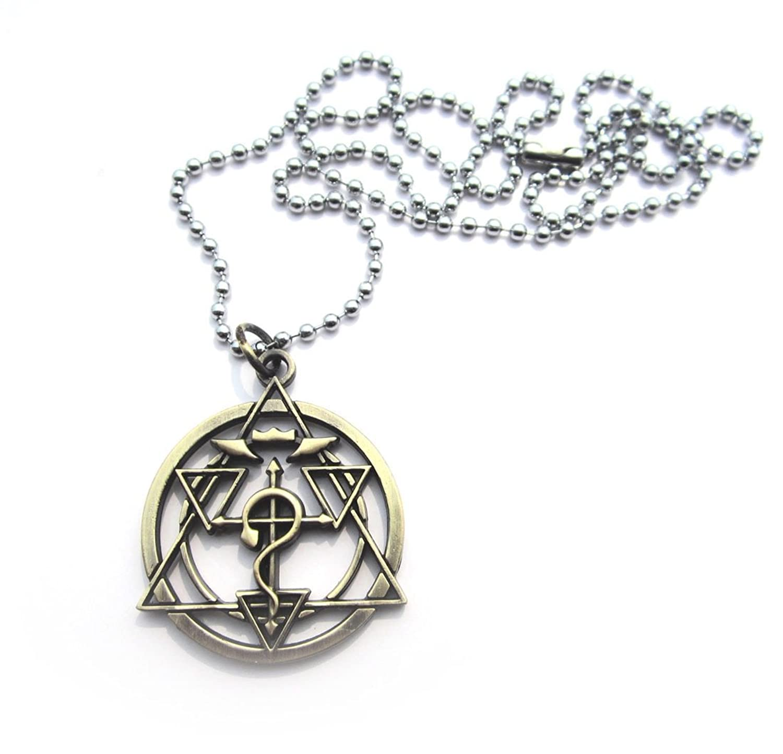 amazon com fullmetal alchemist cross seal pendant cosplay chain