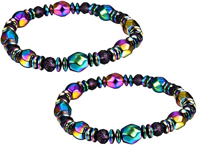Magnetic Hematite Beads Bracelet Bangle Healing Relief Therapy Lose Weight Men