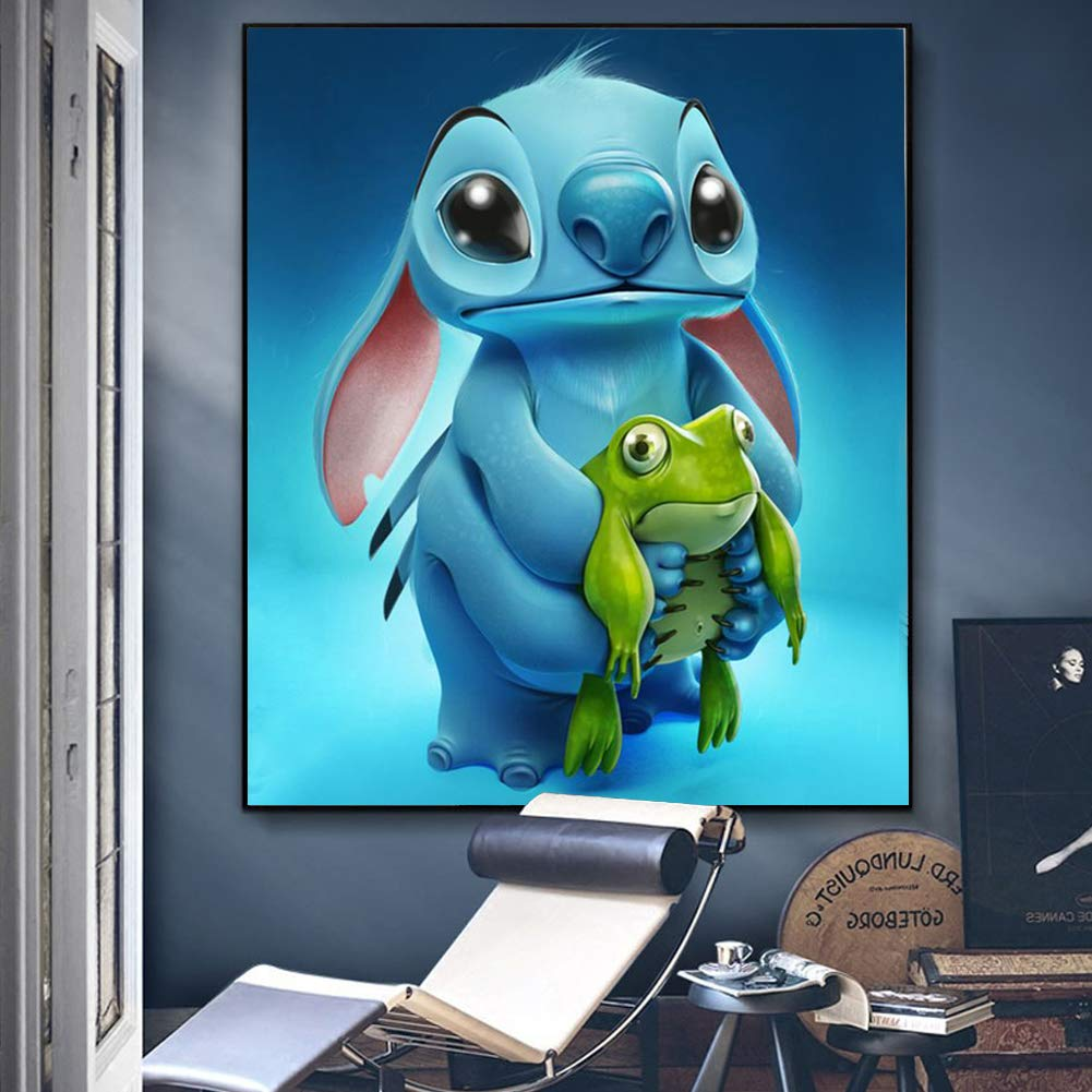 Stitch Diamond Painting,Full Drill 5D Diamond Painting Kits for Adults and Kids,Cross Stitch Embroidery Art Perfect for Relaxation and Home Wall Decor