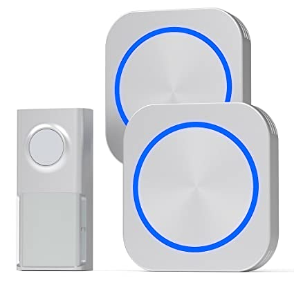 Bon Door Bell, Cambond Waterproof Wireless Doorbell With 2 Receives Plug In, 1  Battery Operated