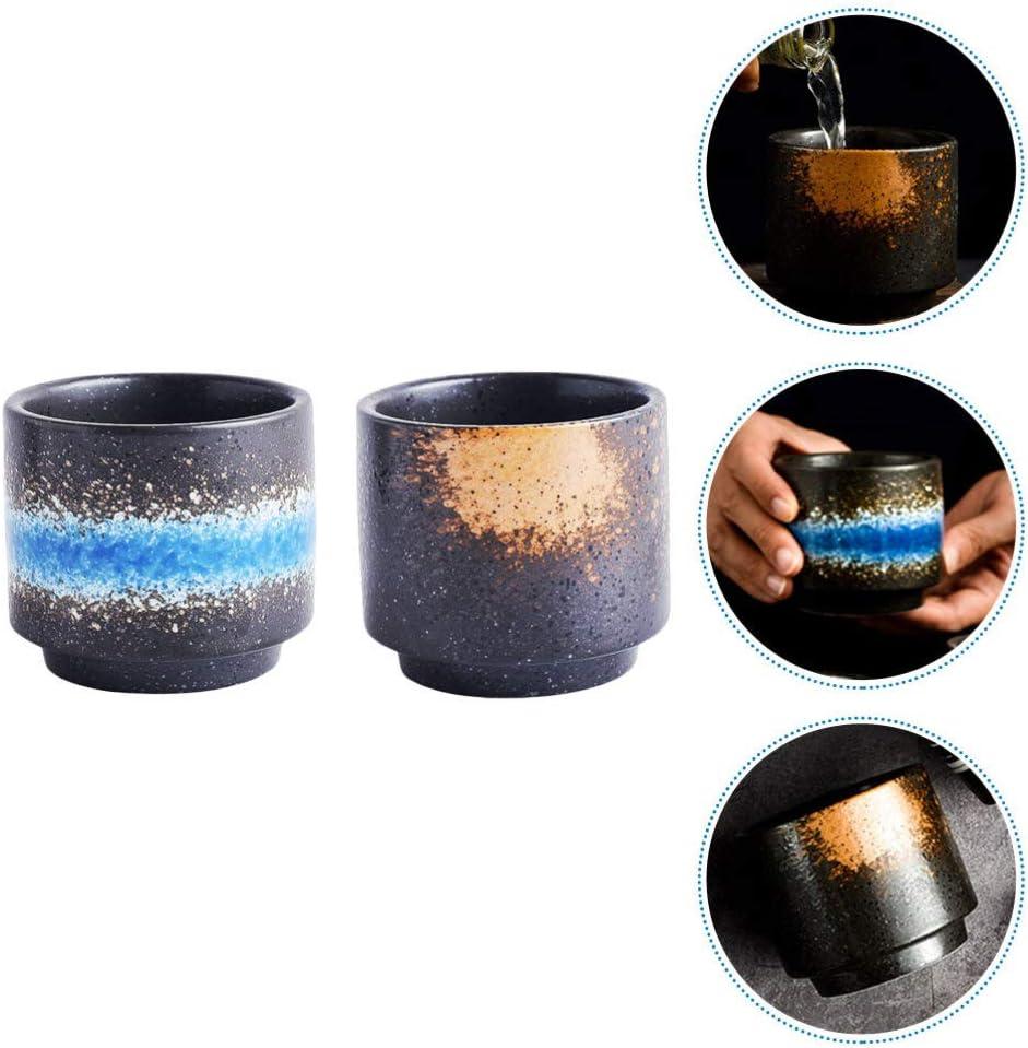 Cabilock 2 Pi/èces Japonais en C/éramique Th/é Tasses Tasses de Sak/é Petites Tasses Chinois Th/é Tasse Potable Tasse pour Boire du Th/é Caf/é Vin Bi/ère