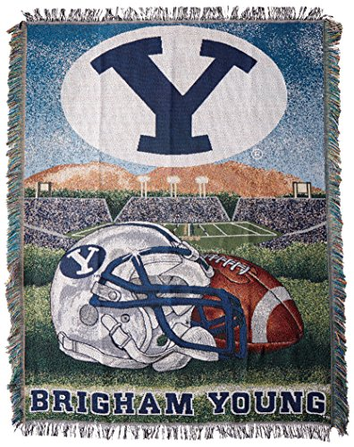 The Northwest Company Officially Licensed NCAA BYU Cougars Home Field Advantage Woven Tapestry Throw Blanket, 48