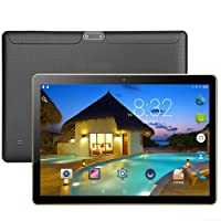 "10.1"" Inch Android Tablet PC,1GB RAM 16GB Storage Phablet Tablet Quad Core Unlocked 3G Cell Phone Tablets, Dual Camera Sim Card Slots, Wifi, GPS, Blue-tooth 4.0,2560*1600 HD IPS Screen Display(Black)"