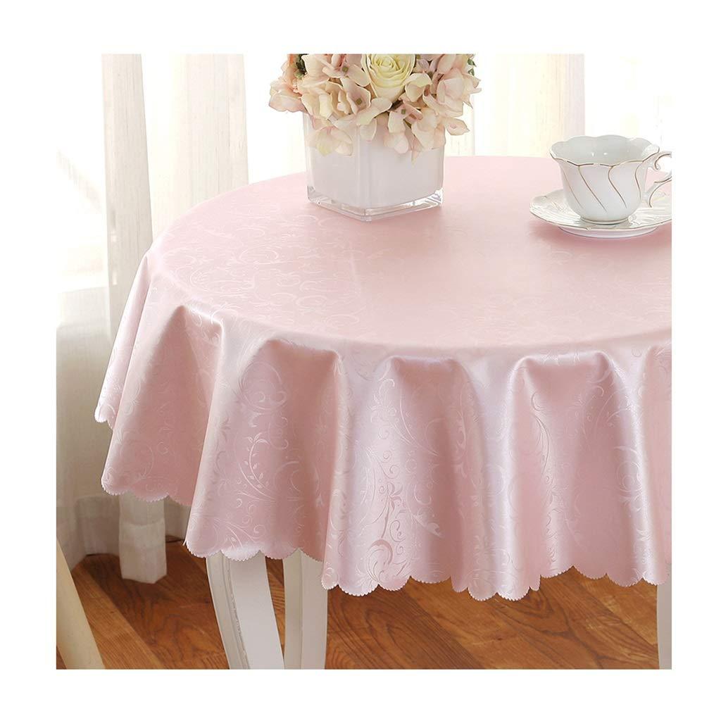 ラウンドテーブルクロス 円形のテーブルクロスの世帯のヨーロッパ式の防水および耐油性のレストランのテーブルクロス簡単なテーブルクロス テーブルクロス (色 : A, サイズ さいず : Round-300cm) Round-300cm A B07RXV9N3K