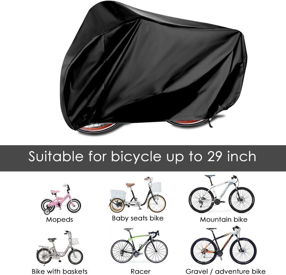 HAUEA Funda para Bicicleta Cubierta Impermeable 190T Protector portátil y Plegable de Poliéster, contra Lluvia,Sol,Polvo 200 x 110 x 70 cm (Negro): Amazon.es: Deportes y aire libre