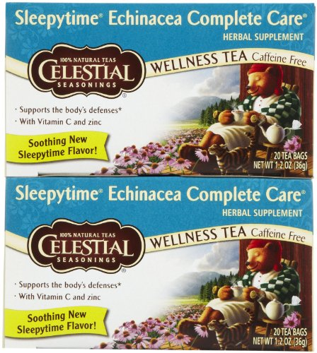 Celestial Seasonings Echinacea Complete Care Wellness Tea Bags, 20 ct, 2 pk