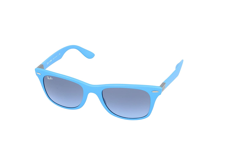 Amazon.com: Ray-Ban WAYFARER LITEFORCE - METALLIC AZURE Frame BLUE ...