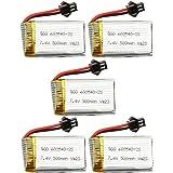 5pcs 7.4V 500mAh Li-PO Batterie Lipo Akku für JJRC H8C H8D DFD F183 F182 RC Quadrocopter