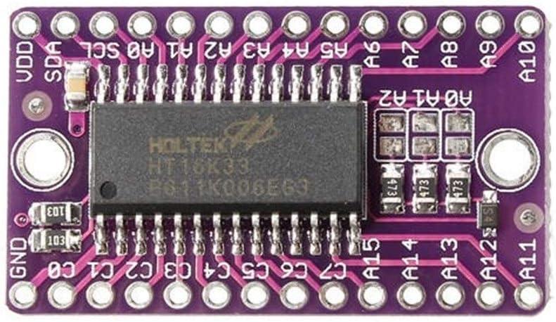 3pcs HT16K33 LED Dot Matrix Drive Control Module Digital Tube Driver Development Board Fit for Arduino Power Module