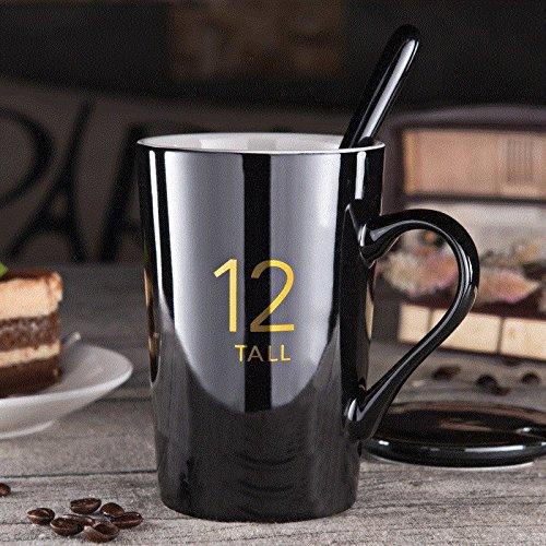 mugcap Europea minimalista tazas taza de cerámica con tapa cuchara ...