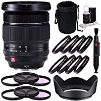 Fujifilm XF 16-55mm f/2.8 R LM WR Lens + 77mm 3 Piece Filter Set (UV, CPL, FL) + 77mm +1 +2 +4 +10 Close-Up Macro Filter Set with Pouch Bundle 7