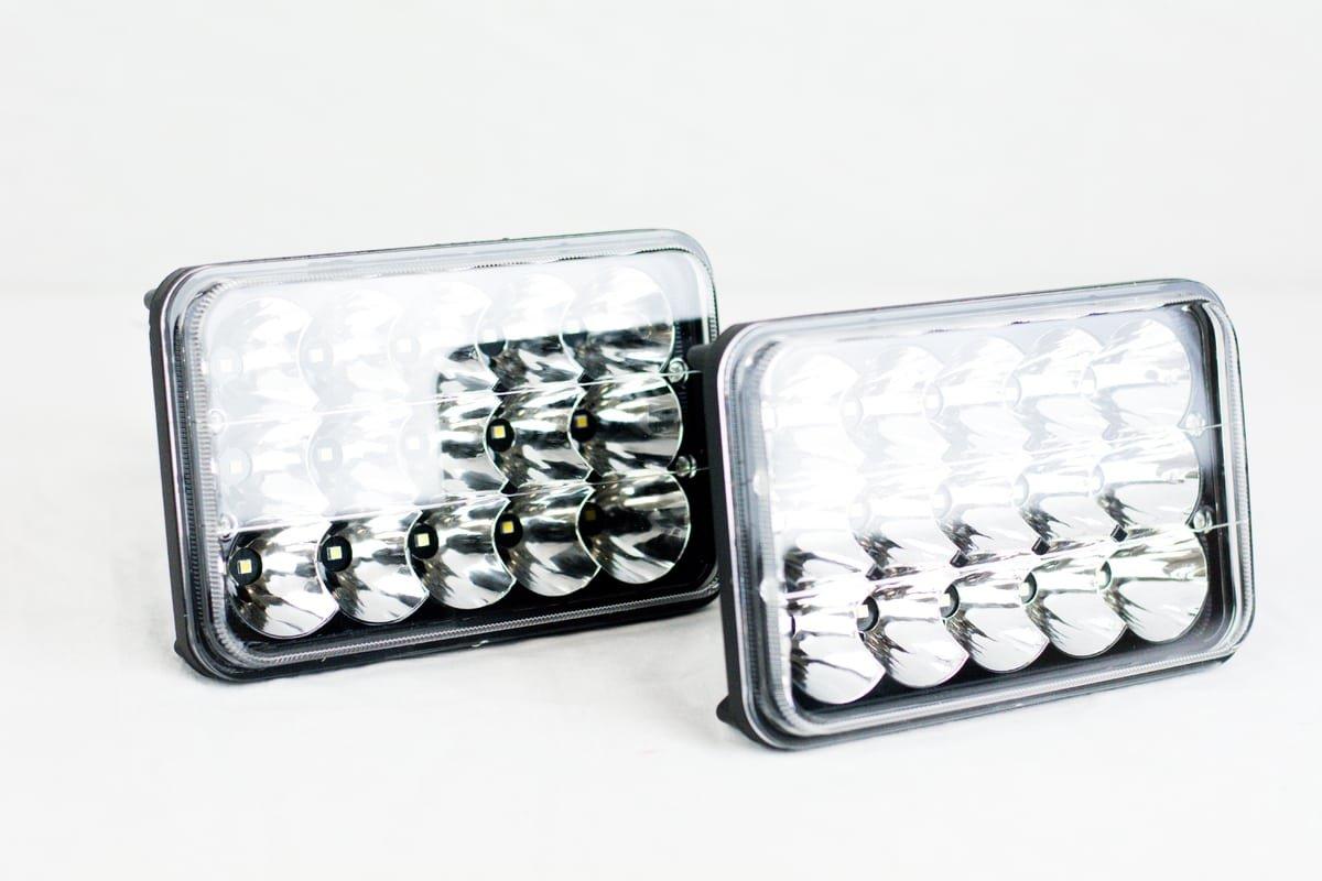 4x V-Spec 4x6 Premium LED Headlight Conversions Black H4651 H4656 H4666 4350385868